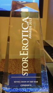 2013 StorErotica Retail Chain of the Year for Adult Novelty Store