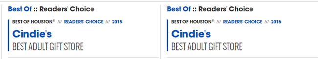 Houston Press Readers Choice Awards for adult novelty store